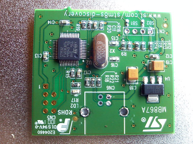 Remove USB connector from STM32 part of STM8S Discovery Kit