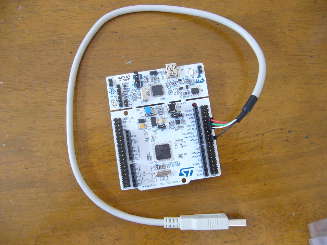 STM32 Nucleo F103 for NeuG